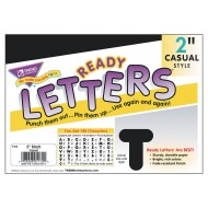 "Ready Letters® Black 2"" Casual Uppercase Letters"
