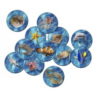 Flagship Carpets® PhotoFun™ Into the Sea Carpet Rounds, 16
