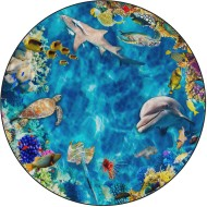 Flagship Carpets® PhotoFun® Into the Sea Round Carpet