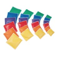 Spectrum™ Vinyl  Square Beanbags,  (Set of 12)