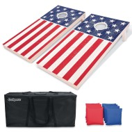 America Wooden Cornhole Set, Regulation Size (4' x 2')