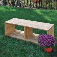 Wood Designs® Outdoor Bench with Storage