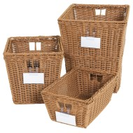 Wood Designs® Plastic Wicker Storage Baskets (Set of 4)