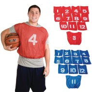 Spectrum™ Adult Numbered Mesh Pinnies (Pack of 12)