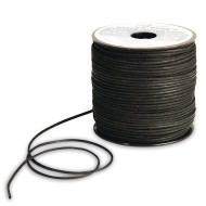 Black Waxed Cotton Cord, 2mm thick x 75 yards