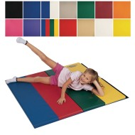 Folding Exercise Mat, 4' x 8', with 2' Folds & Hook and Loop on 2 Ends