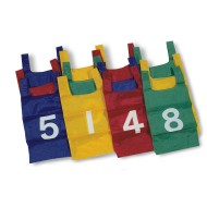 Nylon Numbered Pinnies (Pack of 12)