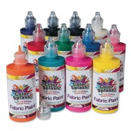Color Splash!® Fabric Paint Assortment, 4 oz. (Pack of 12)
