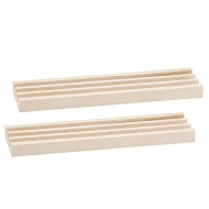 Wooden 3-Slot Domino Tile Holder (Set of 2)