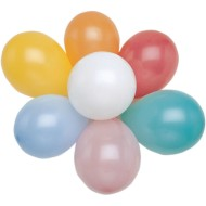 Latex Balloons Assorted Colors, 9