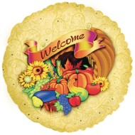 Welcome Cornucopia Mylar® Balloon (Pack of 10)