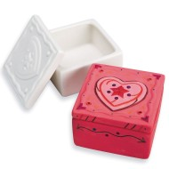 Color-Me™ Ceramic Bisque Trinket Box (Pack of 12)