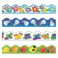 Four Seasons Bulletin Board Border Variety Pack