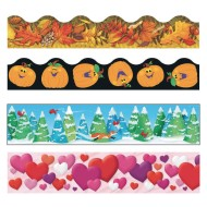 Fall into Winter Bulletin Board Trim Pack