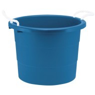 Rough & Rugged™ 19-Gallon Blue Plastic Tub with Rope Handles