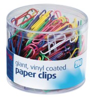 Giant Colored Vinyl Coated Paper Clips
