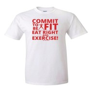 Commit To Be Fit T-Shirt, QTY 288+