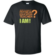 Quality PE Teacher T-Shirt, Black