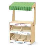 Jonti-Craft® Baltic Birch Market Stand with White Board & Tubs