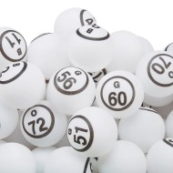 Ping Pong Style Replacement Bingo Balls, White (Pack of 75)