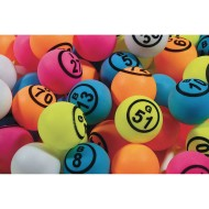 Ping Pong Style Replacement Bingo Balls, Multi-Colored (Pack of 75)