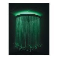 Calming Fiber Optic Corner Shower