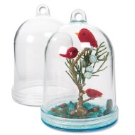 Fillable Hanging Plastic Dome (Pack of 12)