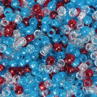Patriotic Sparkle Pony Bead Mix, 1/2 lb Bag