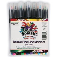 Color Splash!@ Deluxe Fine Line Markers (Set of 24)