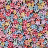 Flower Shape Beads, 1/2 lb Bag
