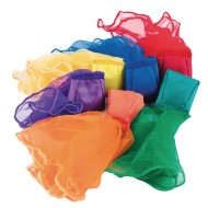 Spectrum™ Beanbag Scarves (Pack of 6)