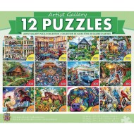 MasterPieces® 12-Puzzle Multipack Artist Gallery