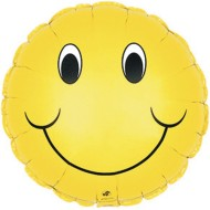 Smile Face Mylar Balloons (Pack of 10)