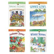 Seasons Adult Coloring Books (Set of 4)