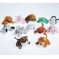 Small Plush Sitting Stuffed Animal Assortment (Pack of 12)