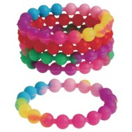 Silicone Bead Bracelets (Pack of 12)