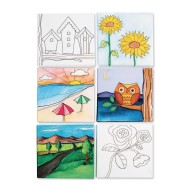 Designer Canvas Board Set II (Pack of 12)