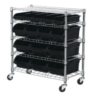 Sandusky® 5-Shelf Mobile Bin Shelving Unit