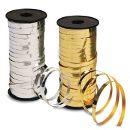 Metallic Curling Ribbon Spools for Balloons & More, 100 Yards