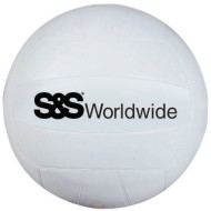 White S&S® Rubber Volleyball