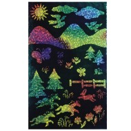 Rainbow Sparkle Soft-Scratch Glitter Board, 8-1/2