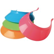 Assorted Neon Plastic Visors (Pack of 12)