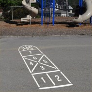 Hopscotch without Home Stencil