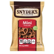 Snyder's Mini Pretzels, 1-1/2 oz. (Pack of 60)