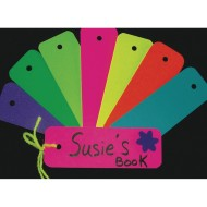 Assorted Bright Bookmarks (Pack of 100)