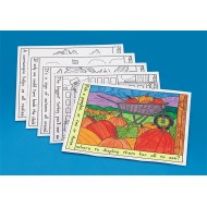 Thanksgiving Coloring Placemats (Set of 10)