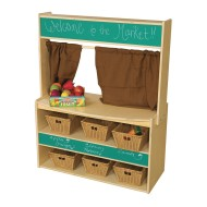 Wood Designs® Pretend Play Farmer's Market Stand with 6 Baskets