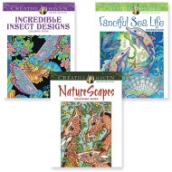 Creative Haven® Nature Coloring Book (Set of 3)