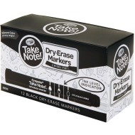 Crayola® Take Note™ Dry Erase Markers, Black (Pack of 12)