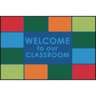 Carpets for Kids® Welcome to our Classroom Value Rug